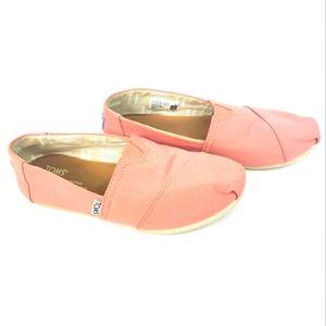 Toms Blush Pink Slip On Loafers 6.5